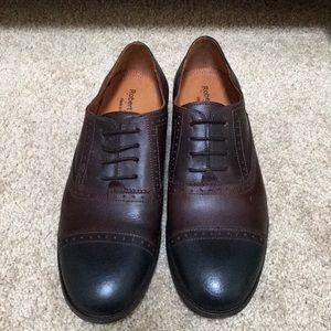 ROBERT WAYNE Size 9.5 Utah derby lace up shoes